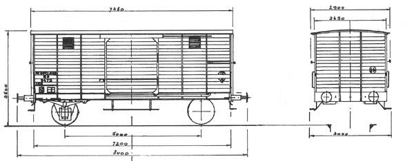 5 Inch gauge railway wagon CHD